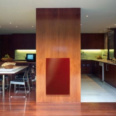 Radiant glass panel ROUGE