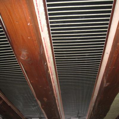 Heating for wooden ceiling